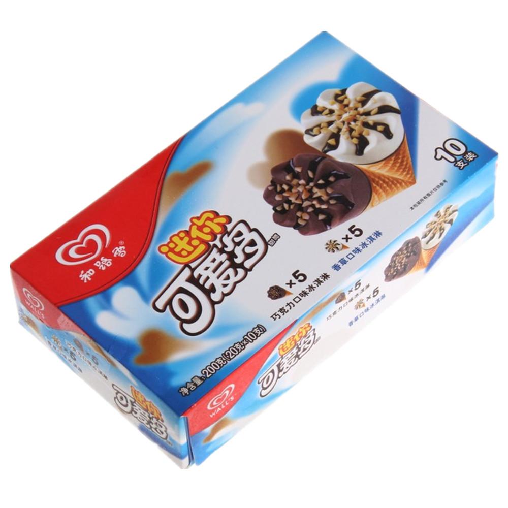 和路雪可爱多巧克力+香草味冰淇淋